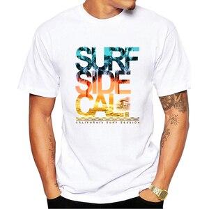 Image 3 - ヴィンテージカリフォルニアビーチ風景印刷メンズ Tシャツ半袖カジュアル Tシャツヒップスタークールなトップス Tシャツ O207