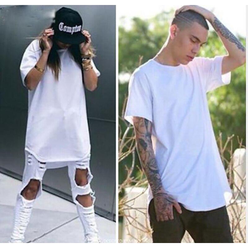 2017 extend hip hop street T-shirt wholesale fashion brand t shirts men summer long sleeve oversize design hold hand unisex