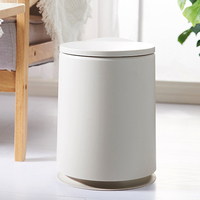 Durable Press Type Dust Bin Novel Flipping Lid Trash Can Bathroom Kitchen Living Room Office Garbage Waste Can 2 Bags Available|Waste Bins| |  -