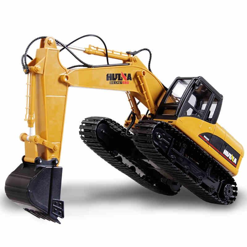 Drift RC Excavator Huina Rc Model Remote Control Toys for Children Alloy 1/12 Rally Auto Rc Hydraulic Excavator Radio Control