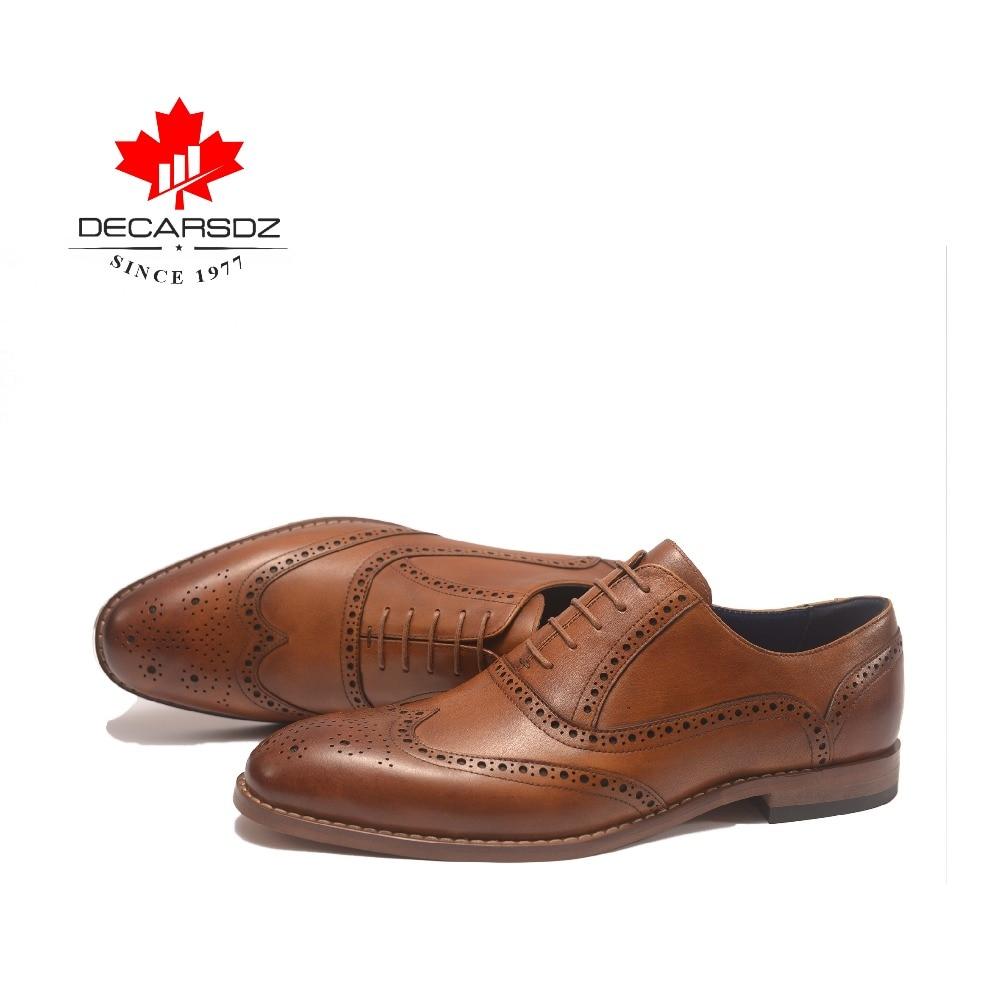 Zapatos de vestir de cuero genuino 2019 para hombres zapatos formales de marca británica zapatos oxford de grano completo trajes de trabajo a mano para hombres zapatos-in Zapatos formales from zapatos    3