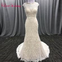 iLoveWedding Long Bohemian Style Embroidery Lace Mermaid Wedding Dresses Boho Bridal Gowns Vestidos De Noiva De Luxo 2018