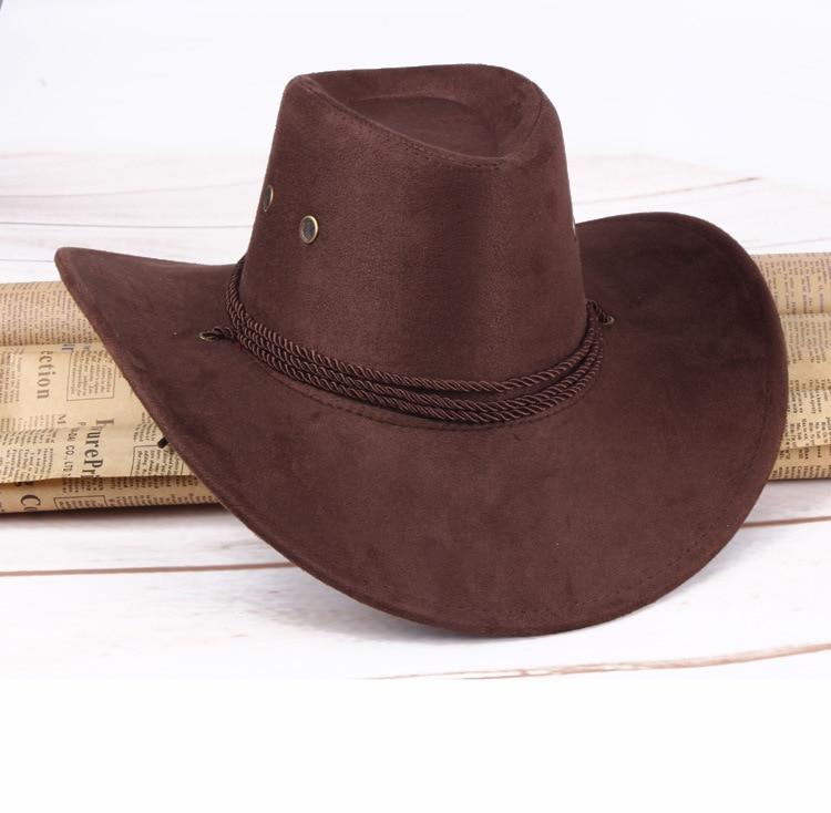 2018 Venta caliente nueva moda unisex sombrero de vaquero occidental gorras  8 colores AW7229 en Sombreros de vaquero de Accesorios de ropa en  AliExpress.com ... 45807b49b82