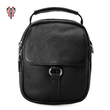 TIANHOO Mini messenger bags litchi parttern cow leather man bag corssbody cell phone/BOOK/WALLETS retro bags