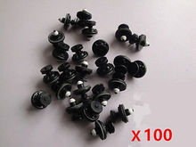 100x for Audi Interior Door Card Fastener Clips Trim Panel Mounting Auto Car Accessories Styling