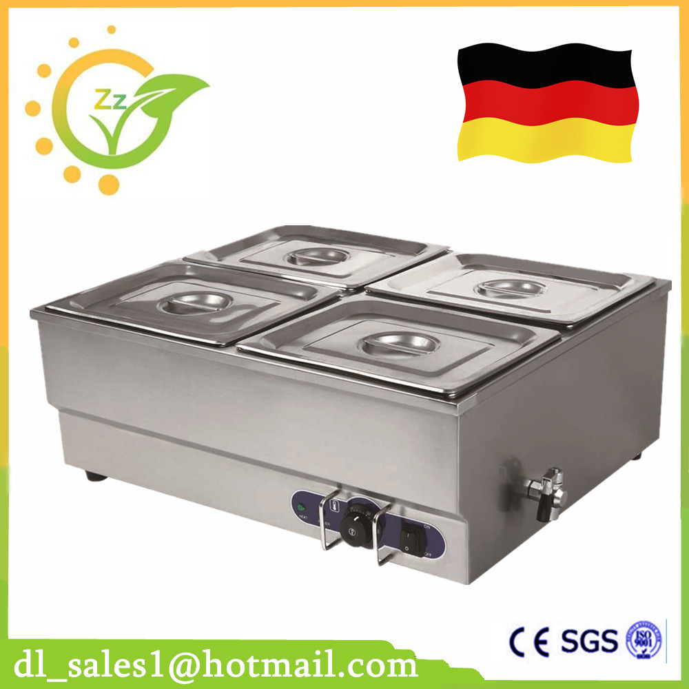 Food warmer 1.5KW professional commercial kitchen equipment stainless steel electric countertop bain marie fast food leisure fast food equipment stainless steel gas fryer 3l spanish churro maker machine