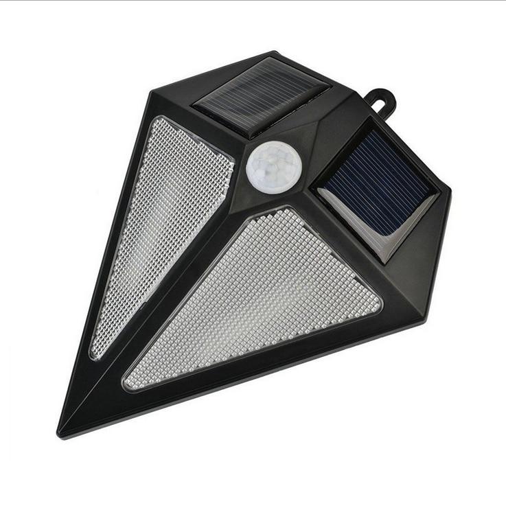 Waterproof LED Solar Garden Light Motion Sensor Triangle Wall Lamp Night Light Automatically for Courtyard Patio