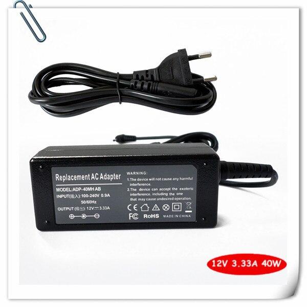 Адаптер ПЕРЕМЕННОГО ТОКА Зарядное Устройство Для Samsung ATIV Smart PC XE500T1C-A01NL ATIV Smart PC 500 Т 12 В 3.33A 40 Вт Ноутбук Блок Питания шнур