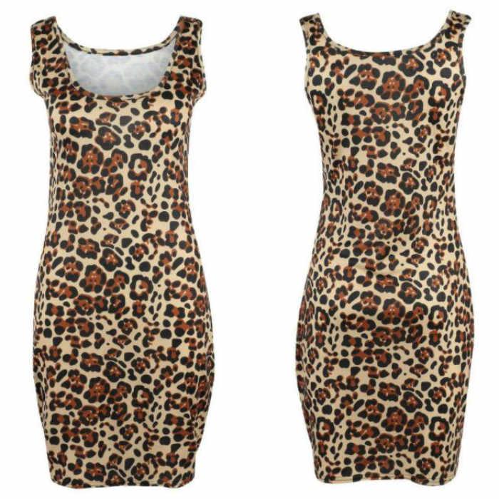 Женское мини леопардовое платье 2019 плюс размер с животным принтом винтажные сексуальные платья-футляр Летние Повседневные платья Vestido SheathClothes