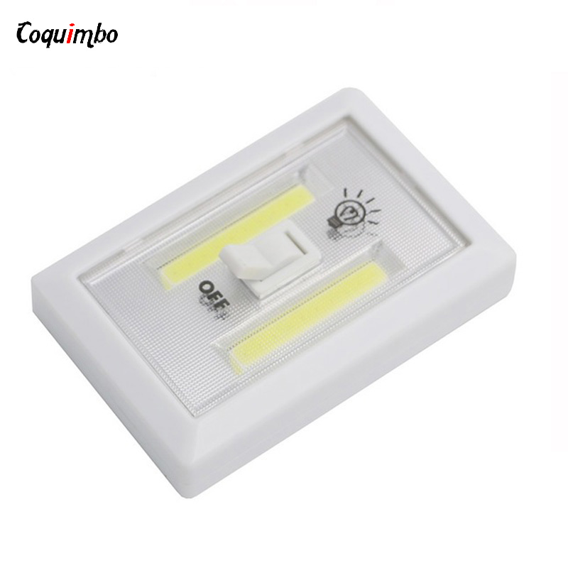 цена Magnetic LED Night Light Ultra Bright Mini COB Wireless Closet Wall Light with Switch Magic Tape for Indoor Outdoor