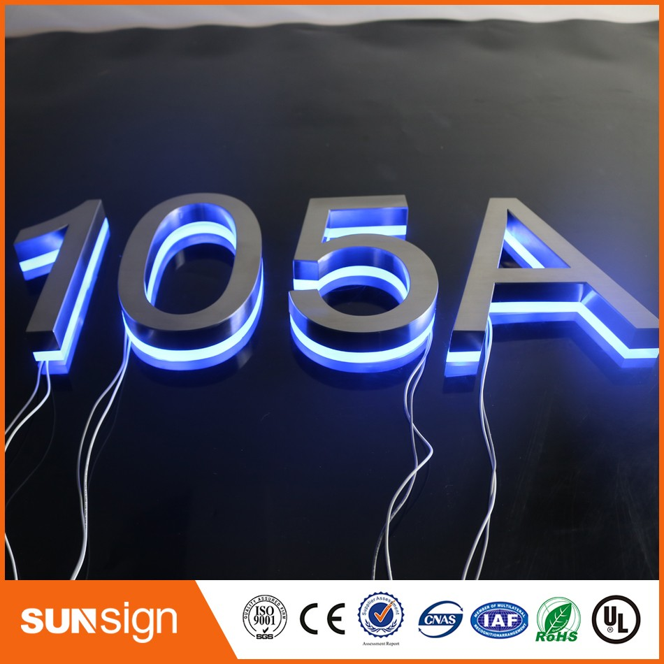 Custom led illuminated house numbers and letters signchina mainland
