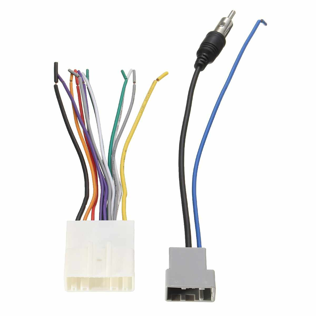 small resolution of car dvd radio install stereo audio wiring harness cable plugs antenna adapter for nissan 2009