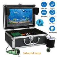 9 30M Touch Screen Infrared Lamp Lights Adjustment Underwater River Sea Boat Fishing Camera Fishfinder Waterproof