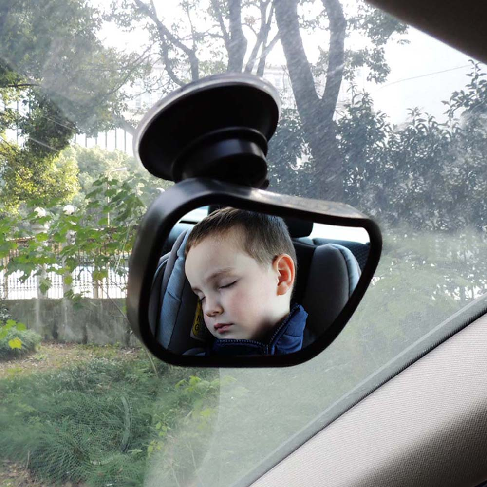 Baby Car Mirror Rear Facing View Infant In Back Seat Shatter-proof Safety Sucktion Cup on Windshield or Clip on Car Sun Visor
