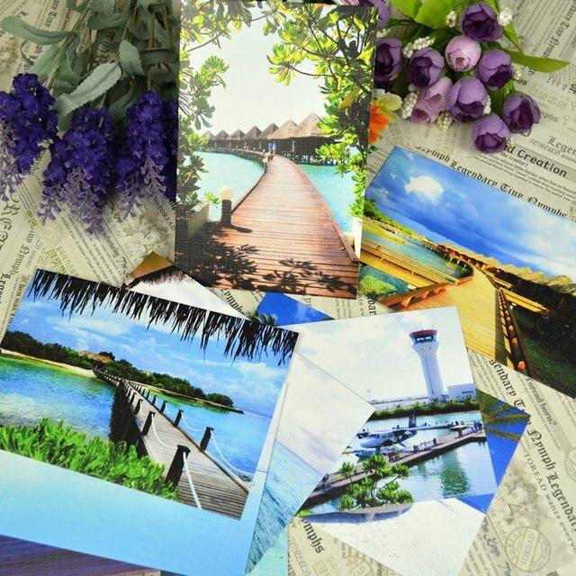 15 Maldives Landscape Postcard Book Set Greeting Card Assorted