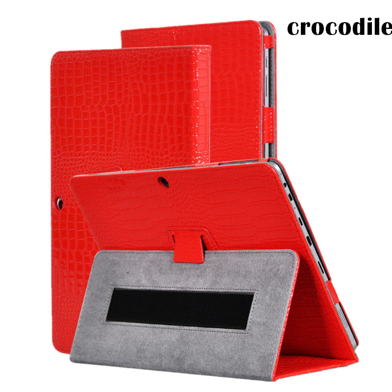 For Chuwi Vi10 Plus Magnet Crocodile Grain Leather Case Smart Cover For Chuwi VI 10 Plus