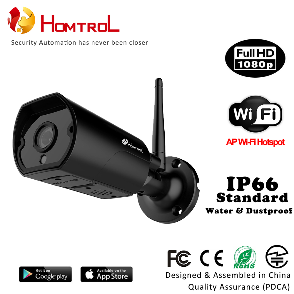 WiFi IP66 Étanche Bullet IP Caméra 1080 p 2 Mega Pixel avec AP Hotspot et Détection De Mouvement avec Duplex Deux d'entretien de manière
