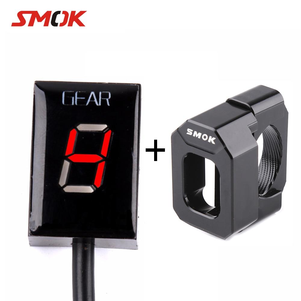 цена на SMOK For Suzuki GSXR 600 Intruder 800 V-Strom SV 650 SV650 750 Motorcycle 1-6 Level Ecu Plug Speed Gear Display Indicator Holder