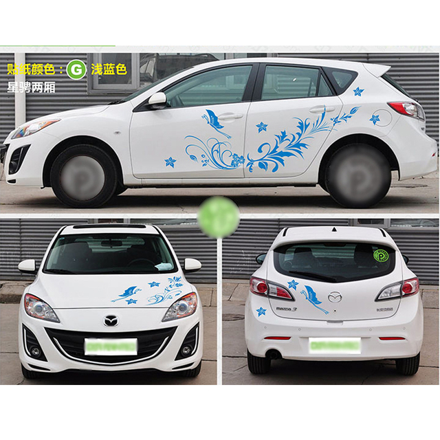 Tailor made flower car sticker camouflage vinyl racing stickers car decoration stickers decal suit for