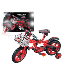 Technic Motorbike Motorcycle Bicycle Moto Building Blocks DIY Sermoido Educational Brick Toys for Children Kids Toy цена 2017