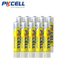 10 pièces PKCELL 1.2v NIMH AAA batterie 3A 1200mah batterie Rechargeable aaa ni mh piles rechargeables AAA