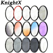 KnightX ND lens color filter 52mm 58 67 55 77 mm for Nikon Canon EOS 7D 5D 6D 50D 60D 600D d5200 d3300 d3200 T5i FLD UV MC Star