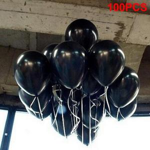 Image 5 - 100pcs שחור 1.5g 10 inchThickening פרל זוהר מסיבת חתונת יום הולדת בלונים עגולים