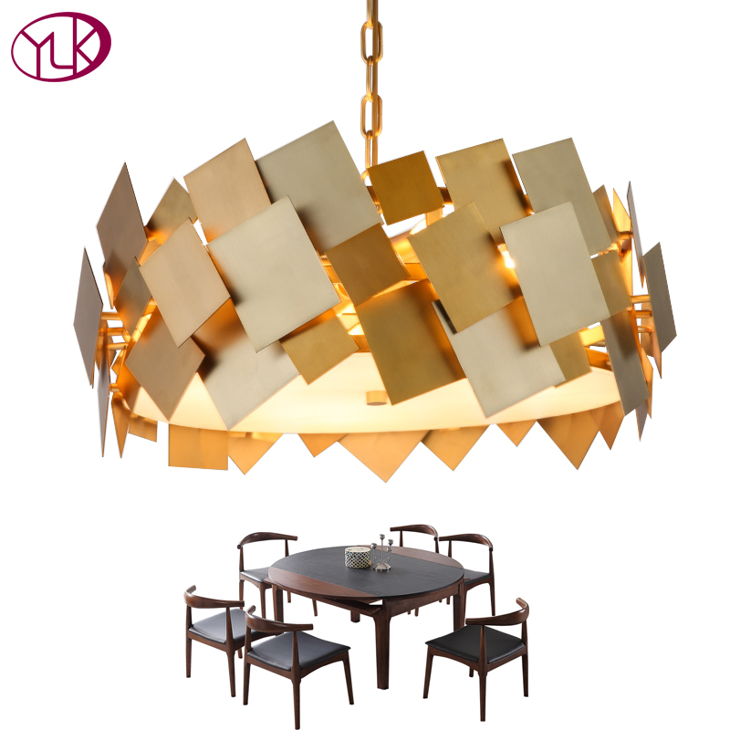 Youlaike Luxury Modern Gold Chandelier For living Room Creative Design Hang Lighting Fixtures LED Home Lamps creating home design for living