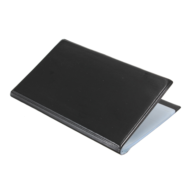120 Cards Black Leather Business Name ID Credit Card
