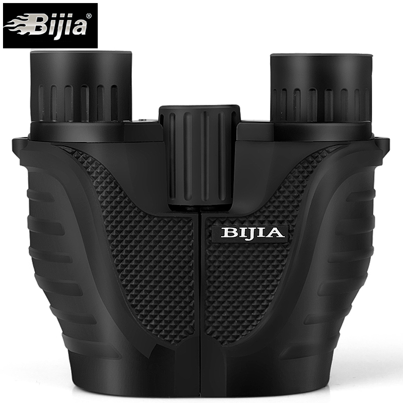 BIJIA 10x25 Mini Binocular Professional Binoculars Telescope Opera Glasses for Travel Concert Outdoor Sports Hunting eyeskey binocular telescope 8x32 hd fully multi coated optical for outdoor travel sightseeing hunting sport match concert orange