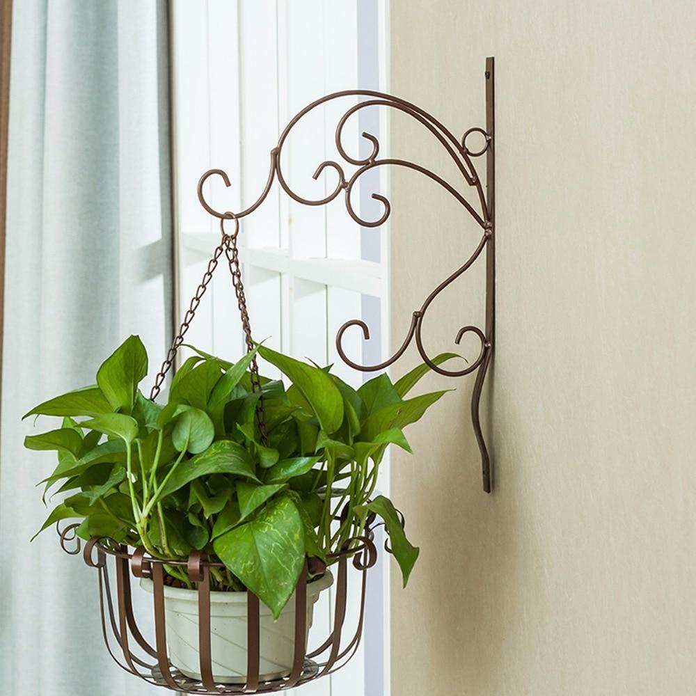 5pcs Creative Flowerpot Balcony Wall Hanging Basket Garden