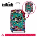 Dispalang novelty musical note prints portable luggage cover waterproof suitcase protective covers for 18-30 inch trolley cases