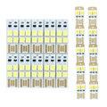 10 unids/lote portátil mini usb potencia de la luz 2 led/4 led noche luz 5050 chips de led Lámpara de Luz blanca Para El Banco de la Energía del Ordenador Laptop