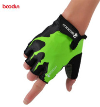цена на Boodun Summer Anti-slip Half Finger Cycling Gloves Men Women Shockproof Gel Mountain Bike Gloves Road Sport MTB Bicycle Gloves