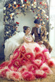 Big flowers Photography dress 150cm Long Train Romantic Fantasy European Classic Party Dress Maternity for wedding