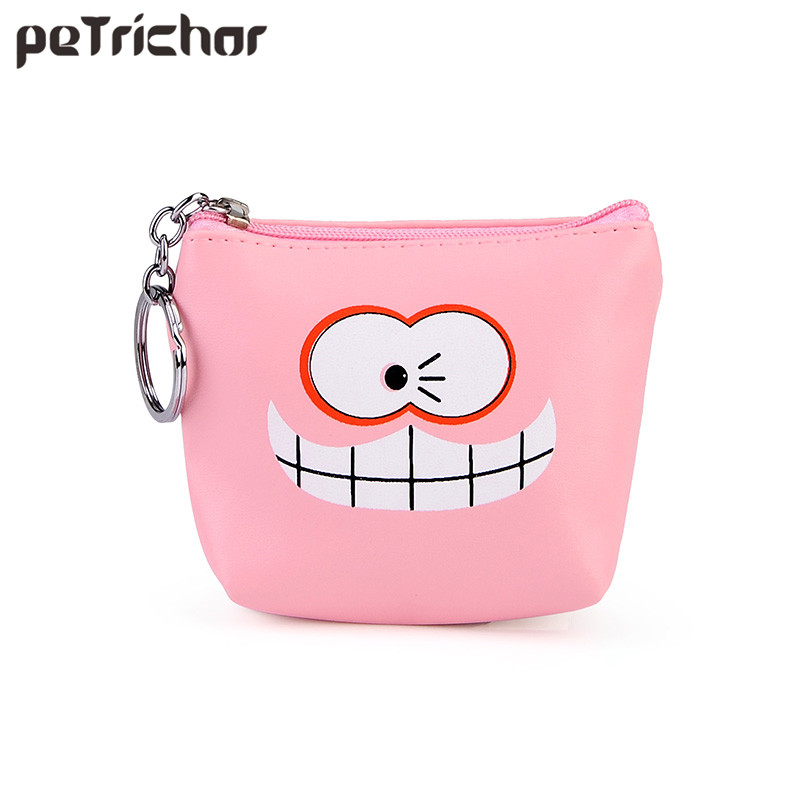 New Cute Women Coin Purses Small Money Purse Brand Designer Zipper Cartoon PU Leather Square Female Mini Bags Girls pacgoth creative pvc waterproof cute carton candy color purse dessert donuts summer sweet hearts zipper coin purses money bag