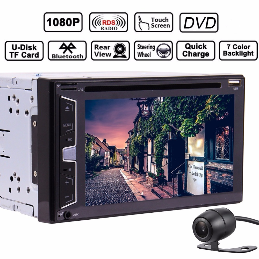 2 Din Car Electronic PC Radio Stereo Bluetooth FM cassette audio Monitor DVD Player Support USB SD Head unit automotive vehicle cimiva 6 2 inch tft audio dvd sb sd bluetooth 2 din car cd player with automatic memory play car dvd player 12v