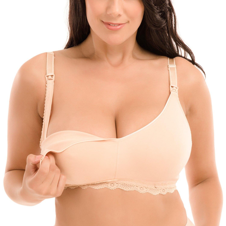 Gratlin женский бюстгальтер для кормления грудью размера плюс без косточек из хлопка для беременных