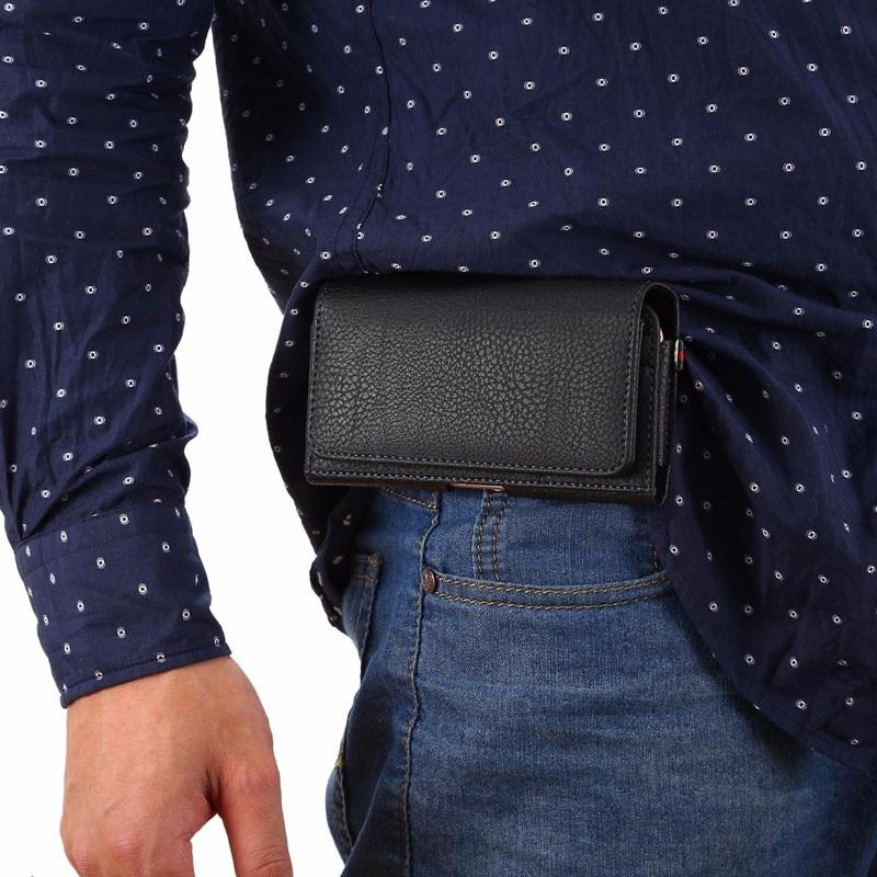 4.8 '' - 6.3 '' Bolso de cintura vintage informal para hombre Estuche - Accesorios y repuestos para celulares - foto 6