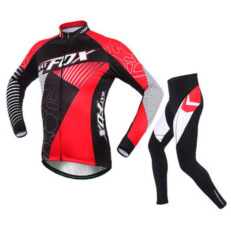 Autumn Winter Men Cycling Jerseys Fleece Suit Long Sleeve Windproof Cycling Wear Cycling Equipment Ropa Ciclismo L446