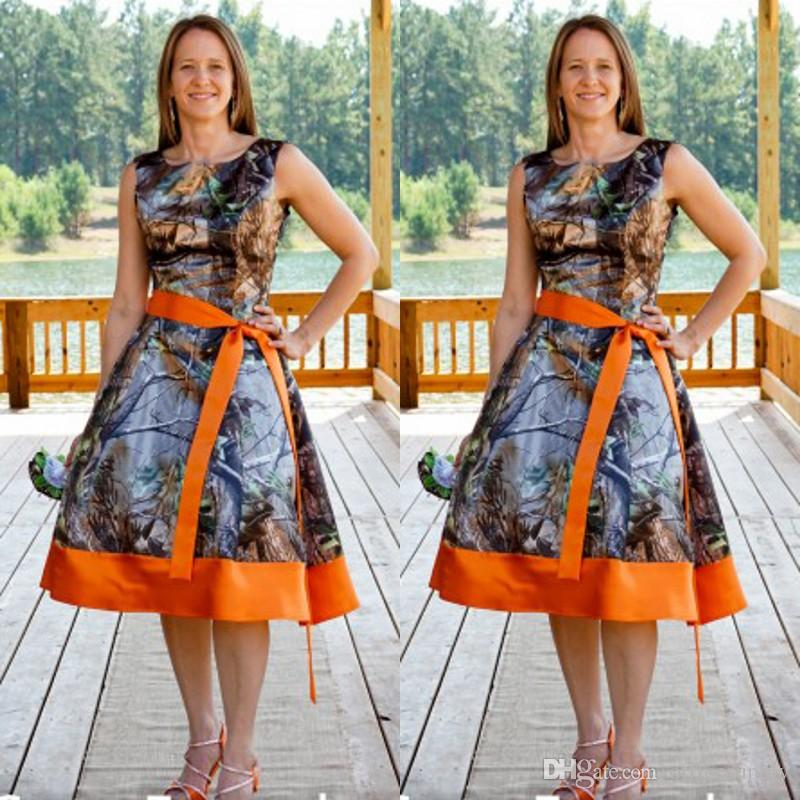 Country Style Camo Bridesmaid Dress New Camouflage Knee ...
