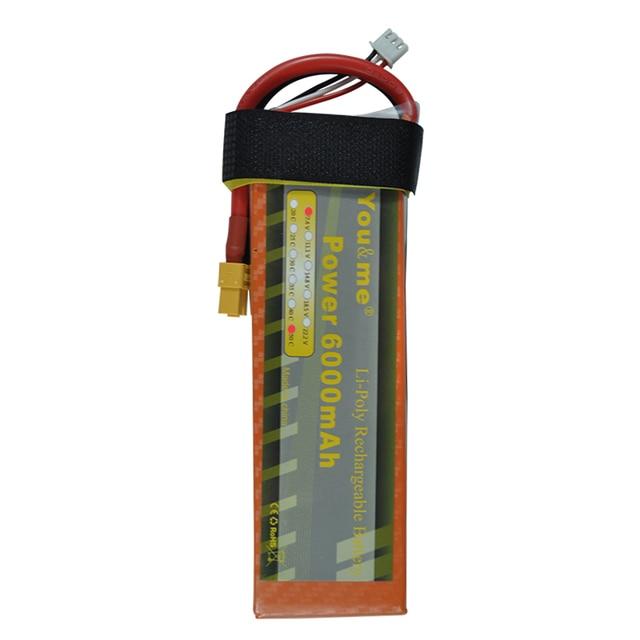 You & me nova 7.4 v 6000 mah 50c max 55c 2 s 7.4 volt rc bateria li-poli para rc helicóptero quadcopter rc toys