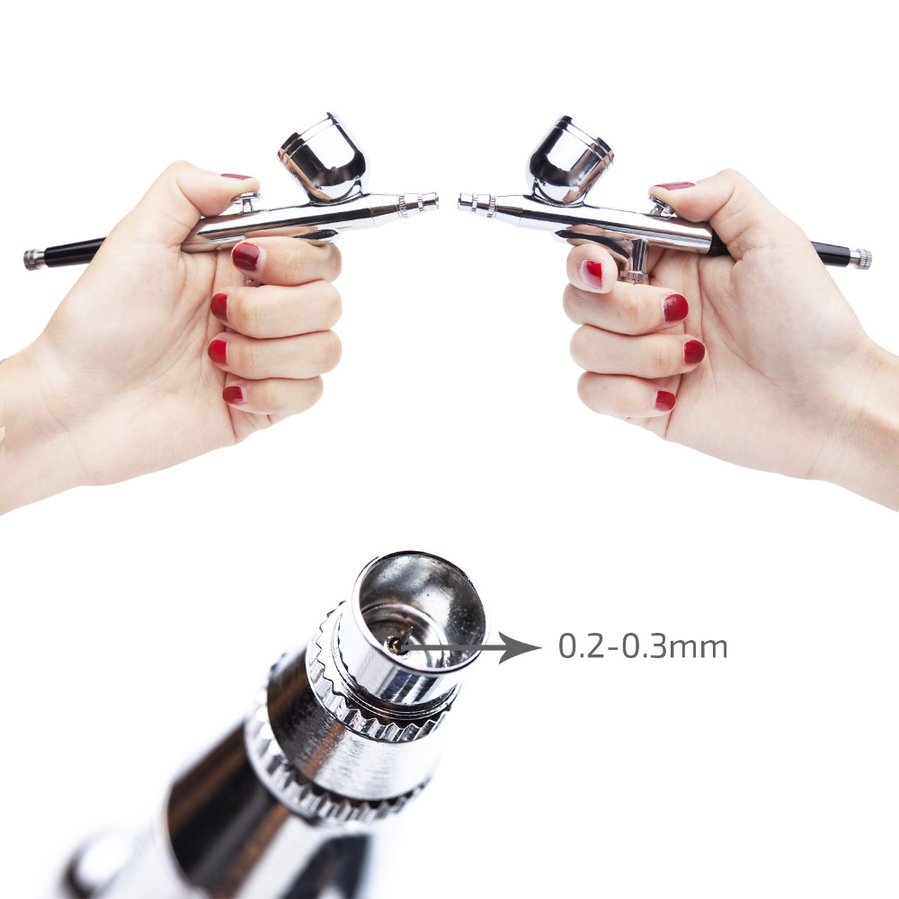 Image 5 - Nail Airbrush Kit Compressor Portable 0.2mm Nail Airbrush Tattoo Make Up 3 Speeds Modes Tool For Nail Art Tools-in Nail Art Equipment from Beauty & Health