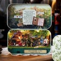 مضحك الريف ملاحظات صندوق مسرح 3d خشبية diy اليدوية مصغرة مربع لطيف البسيطة دمية البيت تجميع أطقم هدية اللعب