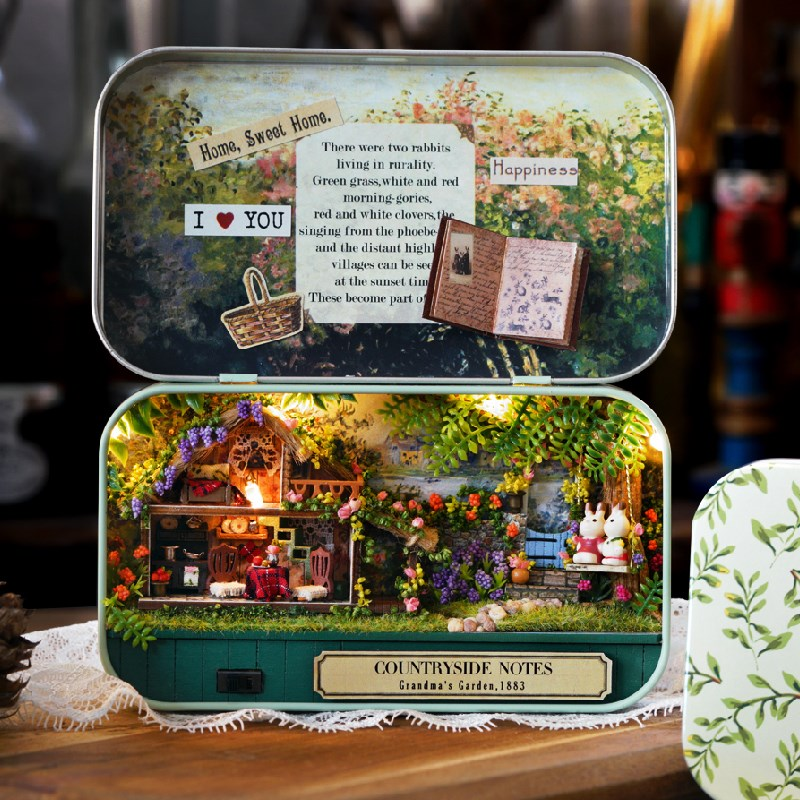 Funny Countryside Notes 3D Wooden DIY Handmade Box Theatre