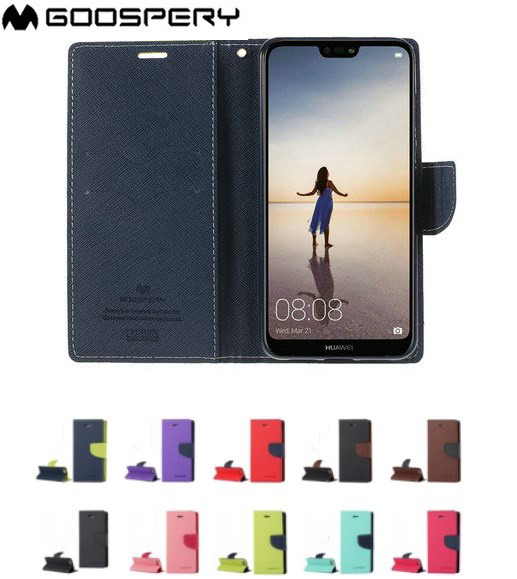 GOOSPERY Fancy Diary Card Pocket Flip Leather Wallet Case Cover For Huawei Y7 Pro Prime Y9 2019 P20 P30 Lite Pro