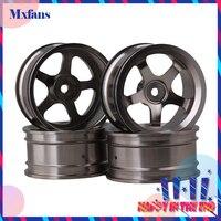 4 PCS Aluminum Alloy Wheel Felloe RC 1 10 On Road Rimmer Black Wheel Rims
