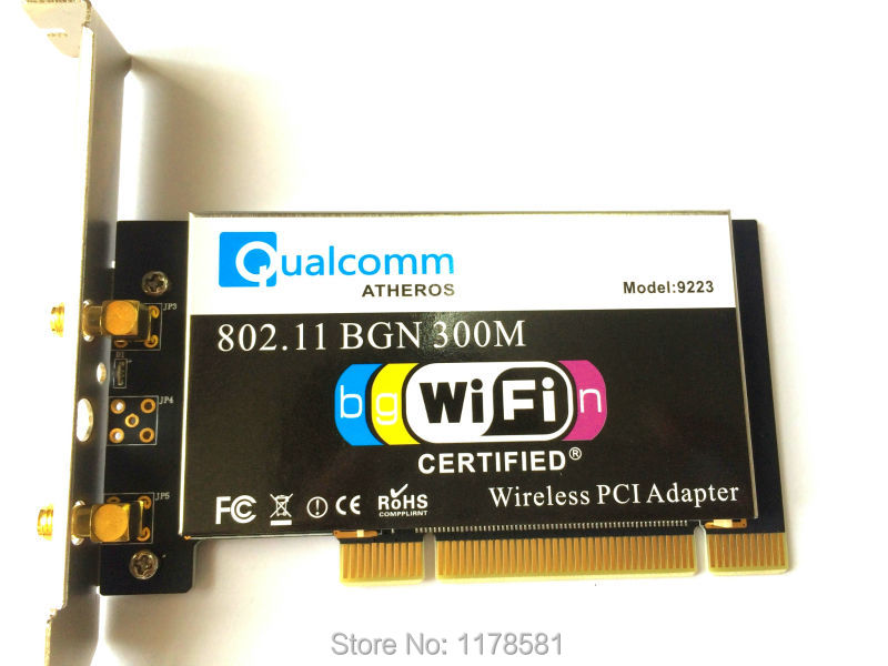 New Atheros AR9223 PCI Wireless Card 802 11b g n 300Mpbs WIFI Desktop Wlan Card