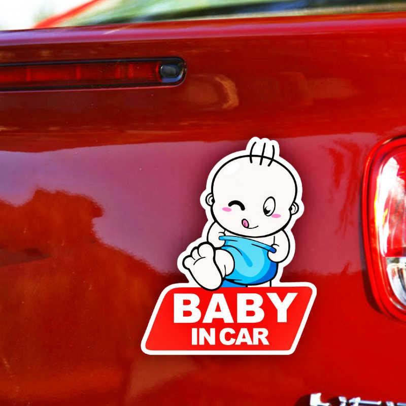 Etie bébé/chien dans la voiture avertissement de sécurité réfléchissant autocollant de voiture décoration pour citroën C5 C4 Picasso Xsara Berlingo Elysee