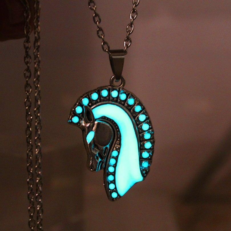 NEUE Leuchtende Pferd Halskette leuchten pferdekopf Halskette ...